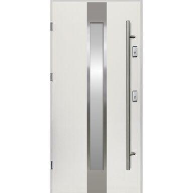Drzwi zewnętrzne stalowe  Neptun Białe 90 Lewe Ok Doors Trendline