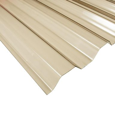 Płyta trapezowa PVC Brązowa 250 x 90 cm