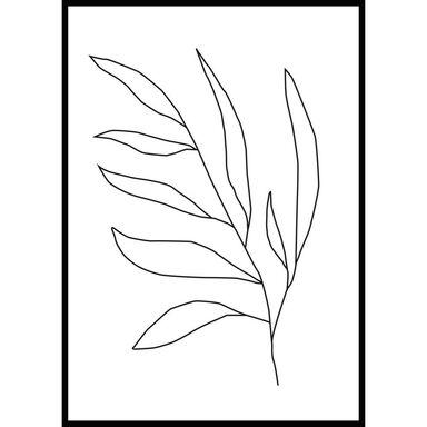 Obraz KONTUR LIŚCI 70 x 100 cm