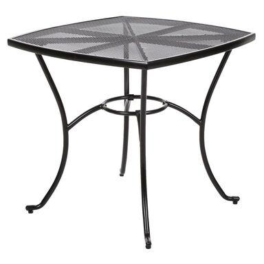Stół ogrodowy BOLONIA 80 x 80 cm metalowy