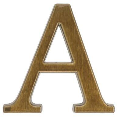 Litera A wys. 10.5 cm aluminiowa brązowa