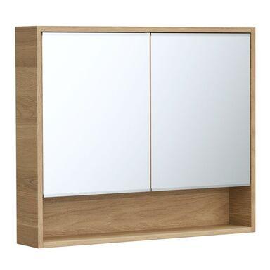 Szafka lustrzana bez oświetlenia NATURAL 90 x 75 x 16 SENSEA