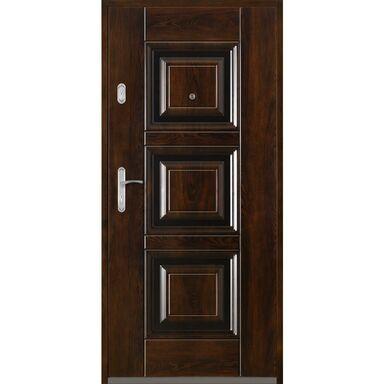 Drzwi wejściowe QUADRAT 2 Mahoń 90 Prawe