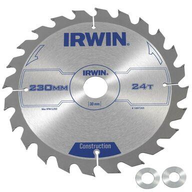 Tarcza do pilarki tarczowej 230MM/24T/30(20,16)  230 mm zęby: 24 szt. IRWIN