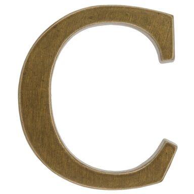 Litera C wys. 10.5 cm aluminiowa brązowa