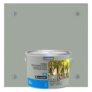 Farba antykorozyjna 2.5 l Stalowy Mat LUXENS