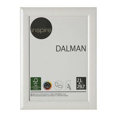 Ramka na zdjęcia DALMAN 21 x 29.7 cm biała drewniana INSPIRE