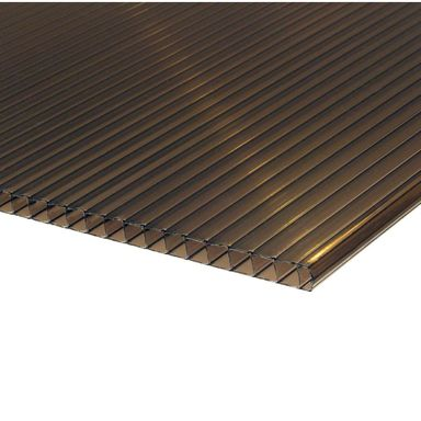 Poliwęglan komorowy 10 mm Brązowy light 200 x 105 mm ROBELIT