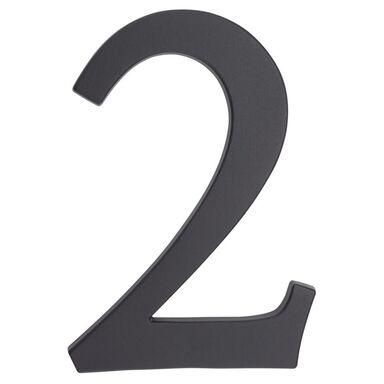 Cyfra 2 wys. 19 cm aluminiowa grafitowa