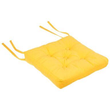 Poduszka na krzesło ELEMA żółta 40 x 40 cm INSPIRE