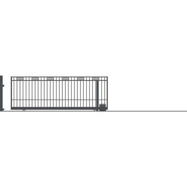 Brama przesuwna bez przeciwwagi z automatem ARGOS 2 430 x 152 cm Prawa POLARGOS