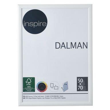 Ramka na zdjęcia DALMAN 50 x 70 cm biała drewniana INSPIRE
