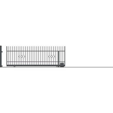 Brama przesuwna bez przeciwwagi z automatem LILA 400 x 152 cm prawa POLARGOS