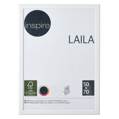 Ramka na zdjęcia Laila 50 x 70 cm biała MDF Inspire