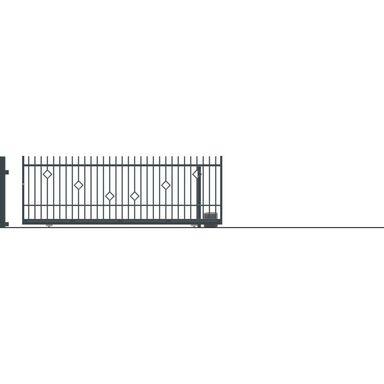 Brama przesuwna bez przeciwwagi z automatem RITA II 430 x 152 cm Prawa POLARGOS