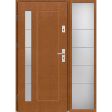 Drzwi wejściowe RAVENNA Z DOSTAWKA PRZESZKLONA 90Lewe ELPREMA