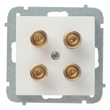 Gniazdo podwójne głośnikowe ASTORIA  biały  ELEKTRO-PLAST