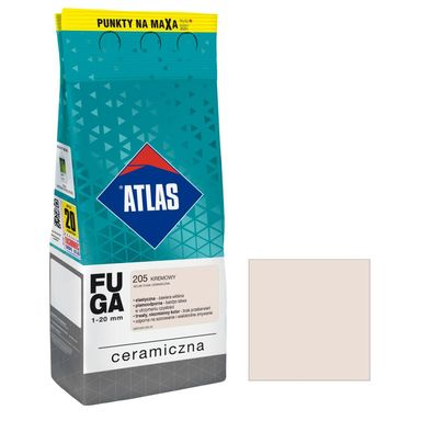 Fuga ceramiczna 205 kremowy 2 kg ATLAS