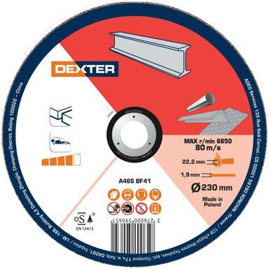 Tarcza do cięcia 230 x 1.9 x 22.23 STAL/INOX DEXTER