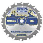 Tarcza do pilarki tarczowej 136MM/18T C/10  136 mm zęby: 18 szt. IRWIN WELDTEC
