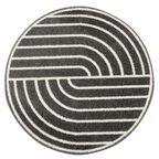 Dywan okrągły Loft czarno-kremowy śr. 133 cm