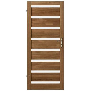 Skrzydło drzwiowe drewniane pokojowe Oktawa Dąb olejowany 80 Lewe Kornik