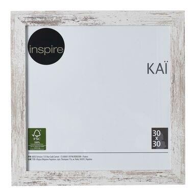 Ramka na zdjęcia Kai 30 x 30 cm biała shabby MDF Inspire