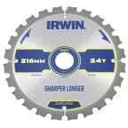 Tarcza do pilarki tarczowej 216MM/24T M/30  235 mm zęby: 24 szt. IRWIN CONSTRUCTION