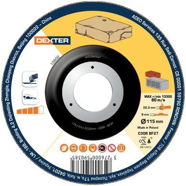 Tarcza do szlifowania betonu 27 115 x 6.0 x 22.2 DEXTER