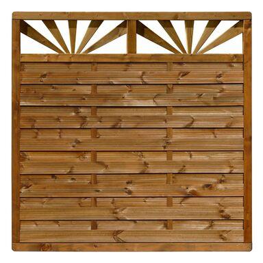Płot szczelny z dekorem 180x180 cm drewniany SUNSET WERTH-HOLZ