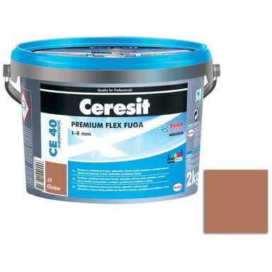 Fuga cementowa WODOODPORNA CE40 49 ceglasty  2 kg CERESIT