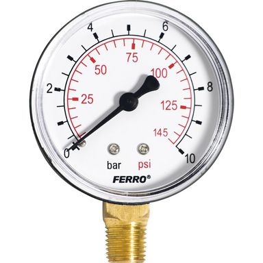 Manometr M63 R 0 - 10 BAR PIONOWY FERRO