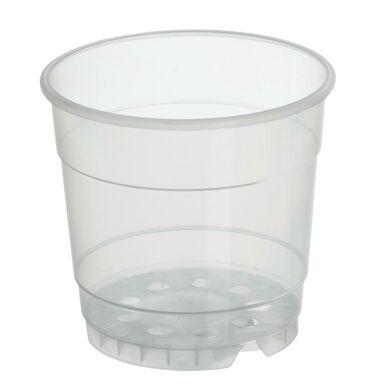 Doniczka plastikowa 12 cm bezbarwna TRANSPARENTNA 0,7 L