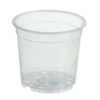 Doniczka plastikowa 15 cm bezbarwna TRANSPARENTNA RIM KOWALCZYK