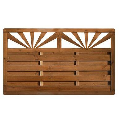 Płot szczelny z dekorem 180x90 cm drewniany SUNSET WERTH-HOLZ
