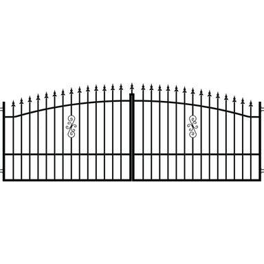 Brama dwuskrzydłowa PALERMO 400 x 150 cm POLARGOS
