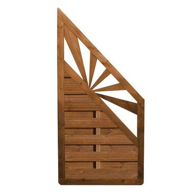 Płot szczelny z dekorem 90x180 cm drewniany SUNSET WERTH-HOLZ