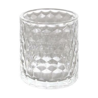 Świecznik szklany KIOGA wys. 7.5 cm transparentny