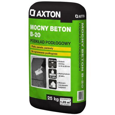 Wylewka betonowa MOCNY BETON B-20 25kg 20 - 60 mm AXTON