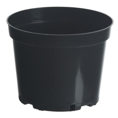 Doniczka plastikowa 25 cm czarna 7,5 L