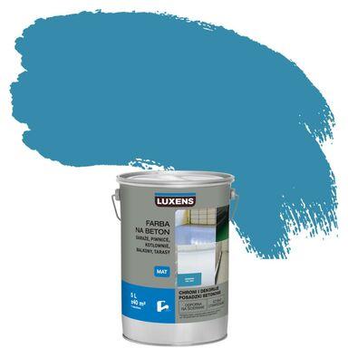 Farba do podłóg NA BETON 5 l Niebieski Mat LUXENS