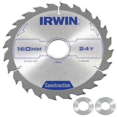 Tarcza do pilarki tarczowej 160MM 24T/30(20,16) śr. 160 mm  24 z IRWIN