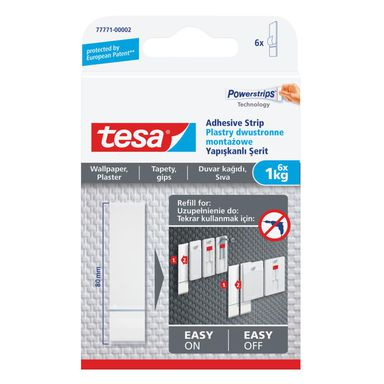 Plastry mocujące dwustronne SMART MOUNTING SYSTEM 6 szt. TESA