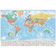 Plakat WORLD MAP FLAGS 91.5 x 61 cm