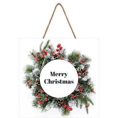 Tabliczka świąteczna Wieniec 30 x 30 cm
