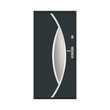 Drzwi zewnętrzne stalowe antywłamaniowe RC2 Ottawa 90 lewe antracyt Loxa